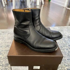 Gucci boots black leather size 7.5